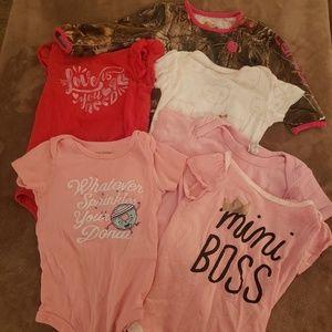 Pack of 5 Girls Onesies